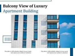 Balcony View Of Luxury Apartment Building
