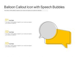Balloon Callout Icon With Speech Bubbles