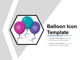 Balloon Icon Template