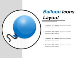 Balloon Icons Layout