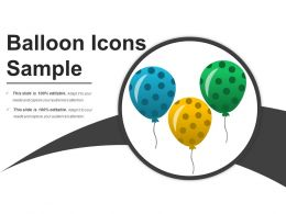 Balloon Icons Sample