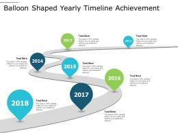 Balloon Shaped Yearly Timeline Achievement