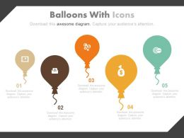 Balloons With Icons Creative Infographics Powerpoint Slides