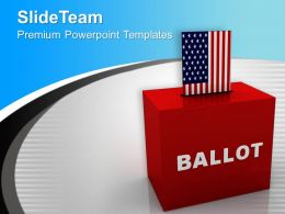 Ballot Box USA Government PowerPoint Templates PPT Themes And Graphics 0113