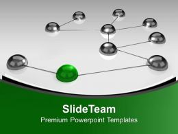 Balls Interconnected Network Communication Powerpoint Templates Ppt Themes And Graphics 0213