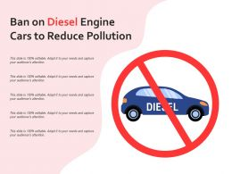 Ban On Diesel Engine Cars To Reduce Pollution