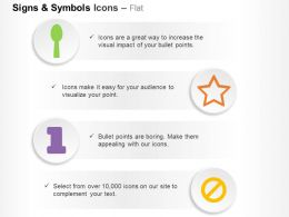 Ban Star Spoon Number One Ppt Icons Graphics