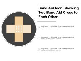 Band Aid Icon Showing Two Band Aid Cross To Each Other