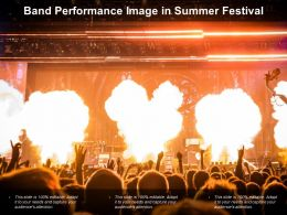 Band Performance Image In Summer Festival