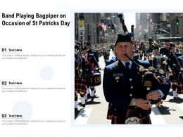 Band Playing Bagpiper On Occasion Of St Patricks Day