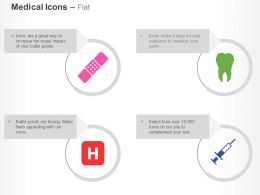 Bandage Teeth Hospital Syringe Ppt Icons Graphics