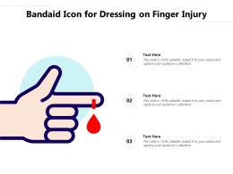Bandaid Icon For Dressing On Finger Injury
