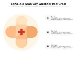 Bandaid Icon With Medical Red Cross