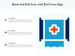 Bandaid Roll Icon With Red Cross Sign