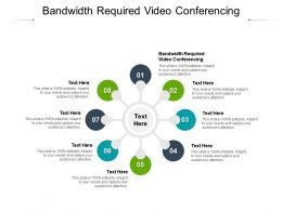 Bandwidth Required Video Conferencing Ppt Powerpoint Presentation Summary Design Ideas Cpb