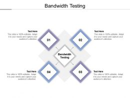 Bandwidth Testing Ppt Powerpoint Presentation Outline Shapes Cpb