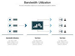 Bandwidth Utilization Ppt Powerpoint Presentation Infographics Themes Cpb