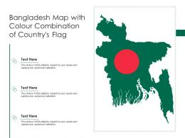 Bangladesh Map With Colour Combination Of Countrys Flag