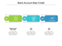 Bank Account Bad Credit Ppt Powerpoint Presentation Outline Example Cpb