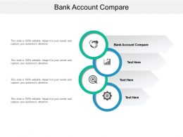 Bank Account Compare Ppt Powerpoint Presentation Slides Visual Aids Cpb