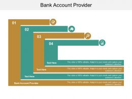 Bank Account Provider Ppt Powerpoint Presentation Show Graphics Cpb