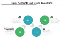 Bank Accounts Bad Credit Overdrafts Ppt Powerpoint Presentation Show Guide Cpb