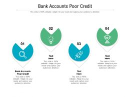 Bank Accounts Poor Credit Ppt Powerpoint Presentation Guide Cpb
