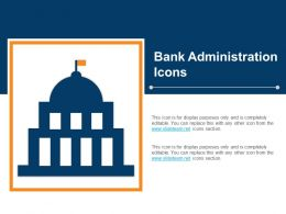 Bank Administration Icons Ppt Slides
