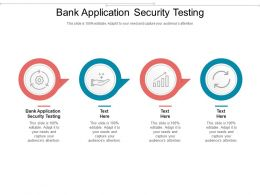 Bank Application Security Testing Ppt Powerpoint Presentation Visual Aids Outline Cpb