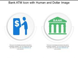 Bank Atm Icon With Human And Dollar Image