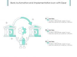 Bank Automation And Implementation Icon With Gear