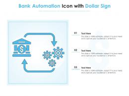 Bank Automation Icon With Dollar Sign