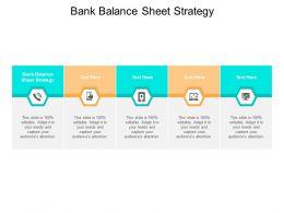 Bank Balance Sheet Strategy Ppt Powerpoint Presentation Styles Slides Cpb