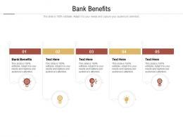 Bank Benefits Ppt Powerpoint Presentation Model Demonstration Cpb