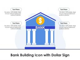 Bank Building Icon With Dollar Sign