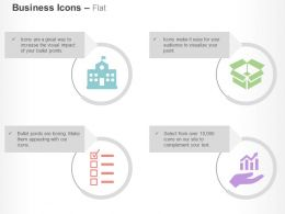 Bank Business Checklist Box Growth Indication Ppt Icons Graphics