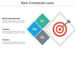 Bank Commercial Loans Ppt Powerpoint Presentation File Designs Download Cpb