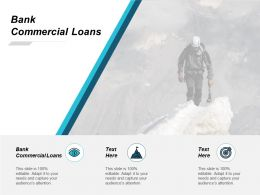 Bank Commercial Loans Ppt Powerpoint Presentation File Outfit Cpb