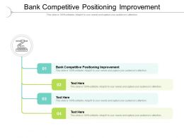 Bank Competitive Positioning Improvement Ppt Powerpoint Presentation Cpb