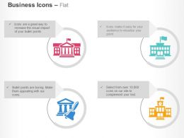 Bank Court Town Hall School Ppt Icons Graphics
