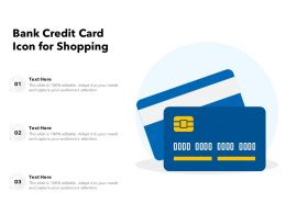 Bank Credit Card Icon For Shopping