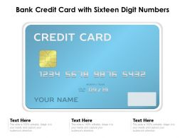 Bank Credit Card With Sixteen Digit Numbers