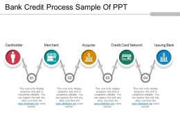 Bank Credit Process Sample Of Ppt