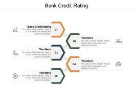 Bank Credit Rating Ppt Powerpoint Presentation Infographic Template Elements Cpb