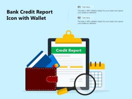 Bank Credit Report Icon With Wallet