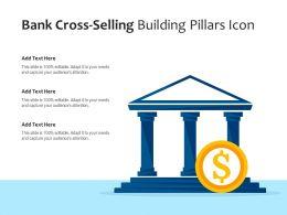 Bank Cross Selling Building Pillars Icon