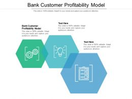Bank Customer Profitability Model Ppt Powerpoint Presentation Professional Slide Cpb