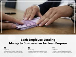 Bank Employee Lending Money To Businessman For Loan Purpose