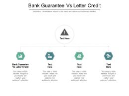 Bank Guarantee Vs Letter Credit Ppt Powerpoint Presentation File Pictures Cpb