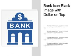 Bank Icon Black Image With Dollar On Top